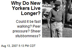 Why Do New Yorkers Live Longer?