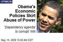 Obama's Economic Policies Skirt Abuse of Power