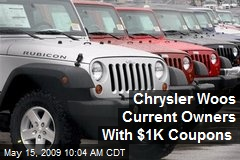 Chrysler Woos Current Owners With $1K Coupons