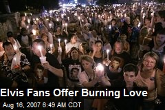 Elvis Fans Offer Burning Love