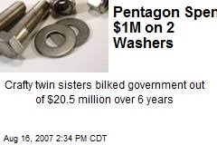 Pentagon Spent $1M on 2 Washers