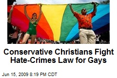 Conservative Christians Fight Hate-Crimes Law for Gays