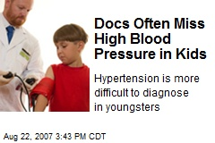 Docs Often Miss High Blood Pressure in Kids