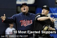 10 Most Ejected Skippers