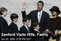 Sanford Visits Wife, Family