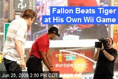 Fallon Beats Tiger at His Own Wii Game