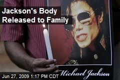 Jackson's Body Released to Family