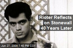 Rioter Reflects on Stonewall 40 Years Later