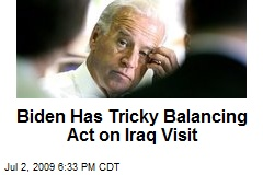 Biden Has Tricky Balancing Act on Iraq Visit
