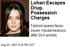 Lohan Escapes Drug-Possession Charges