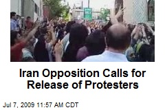 Iran Opposition Calls for Release of Protesters