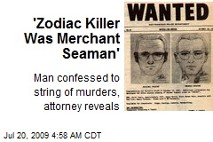 'Zodiac Killer Was Merchant Seaman'