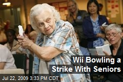 Wii Bowling a Strike With Seniors
