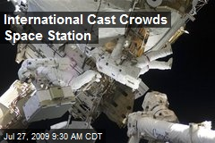 International Cast Crowds Space Station