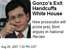 Gonzo's Exit Handcuffs White House