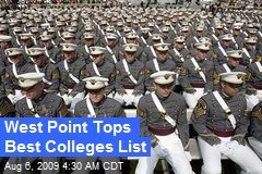 West Point Tops Best Colleges List