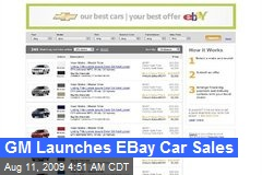 GM Launches EBay Car Sales