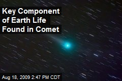 Key Component of Earth Life Found in Comet
