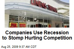 Companies Use Recession to Stomp Hurting Competition