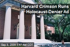 Harvard Crimson Runs Holocaust-Denier Ad