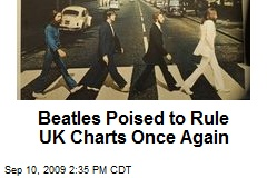 Beatles Poised to Rule UK Charts Once Again
