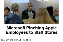Microsoft Pinching Apple Employees to Staff Stores
