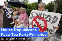 House Republicans Face Tea Party Primaries