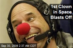 1st Clown in Space Blasts Off