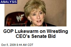 GOP Lukewarm on Wrestling CEO's Senate Bid