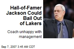 Hall-of-Famer Jackson Could Bail Out of Lakers