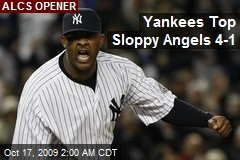 Yankees Top Sloppy Angels 4-1