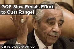 GOP Slow-Pedals Effort to Oust Rangel