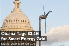 Obama Tags $3.4B for Smart Energy Grid