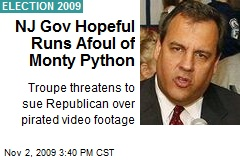 NJ Gov Hopeful Runs Afoul of Monty Python