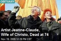 Artist Jeanne-Claude, Wife of Christo, Dead at 74