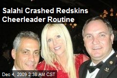 Salahi Crashed Redskins Cheerleader Routine