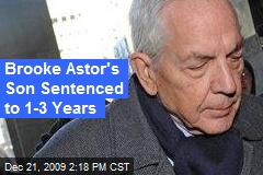Brooke Astor's Son Sentenced to 1-3 Years