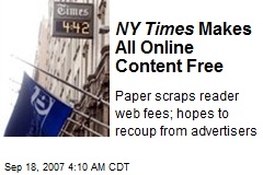 NY Times Makes All Online Content Free