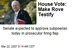 House Vote: Make Rove Testify