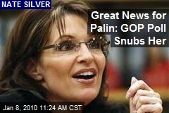 Great News for Palin: GOP Poll Snubs Her