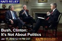 Bush, Clinton: It's Not About Politics