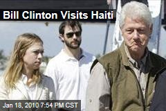 Bill Clinton Visits Haiti