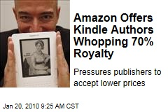 Amazon Offers Kindle Authors Whopping 70% Royalty