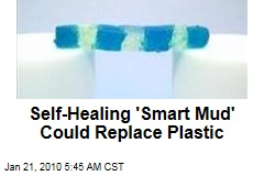 Self-Healing 'Smart Mud' Could Replace Plastic