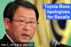 Toyota Boss Apologizes for Recalls