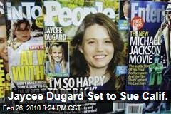 Jaycee Dugard Set to Sue Calif.