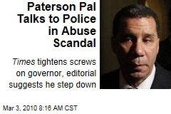 Paterson Pal Talks to Police in Abuse Scandal