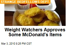 Weight Watchers Approves Some McDonald's Items