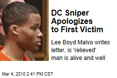 DC Sniper Apologizes to First Victim