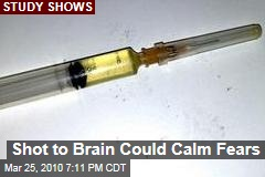 Shot to Brain Could Calm Fears